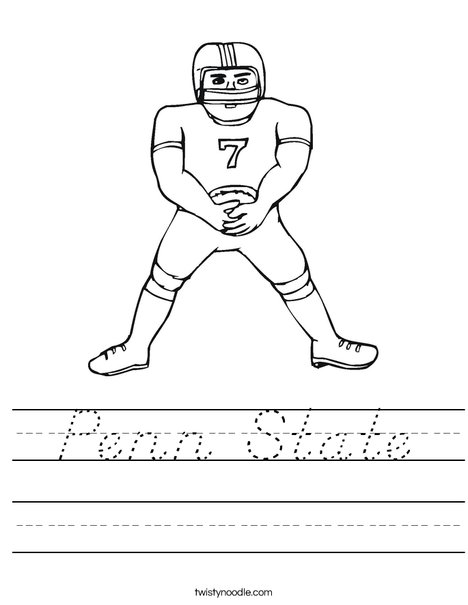 Football Player Worksheet