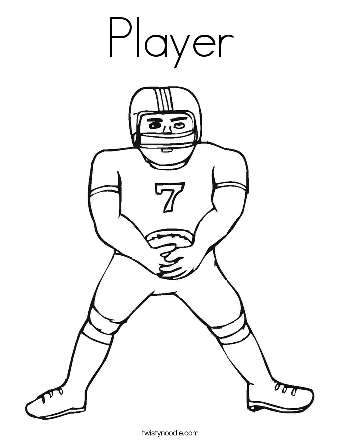 Player Coloring Page