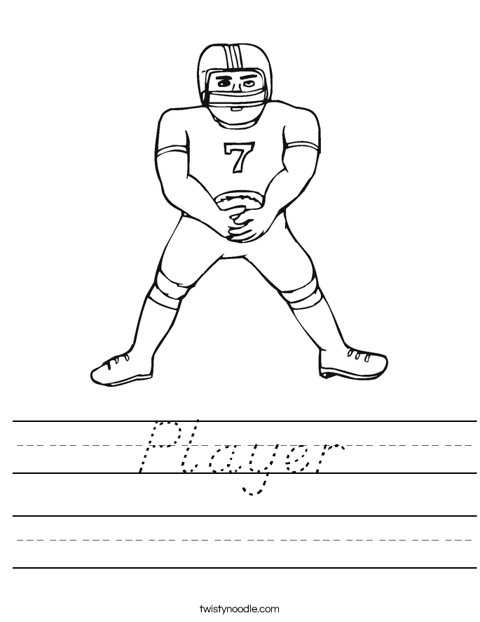 Player Worksheet