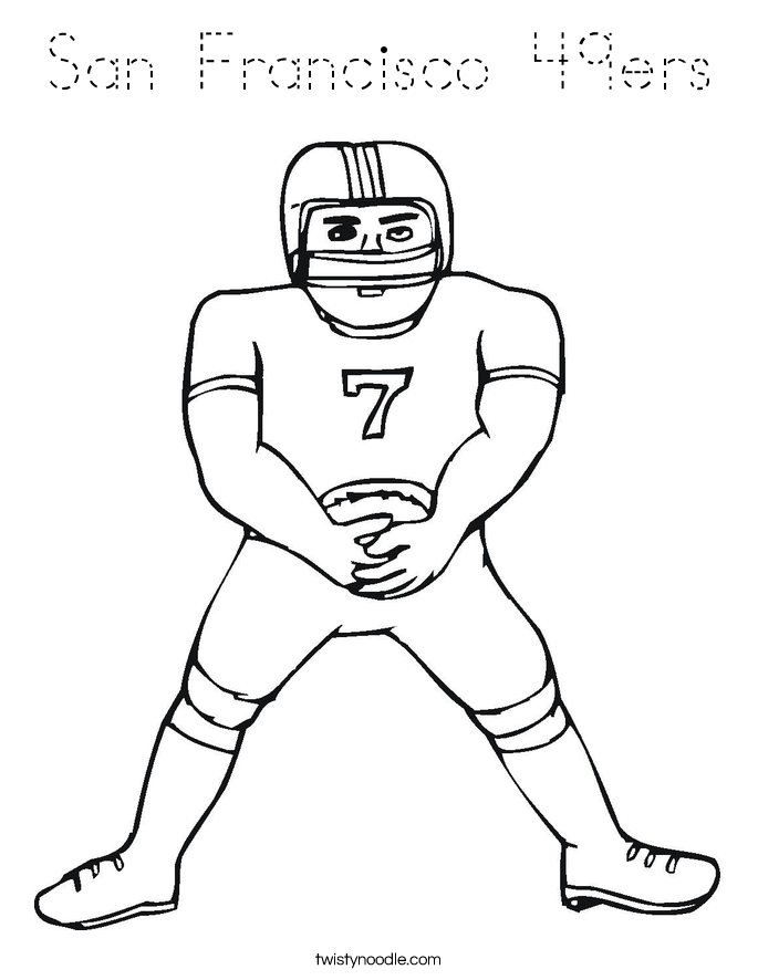 San Francisco 49ers Coloring Page