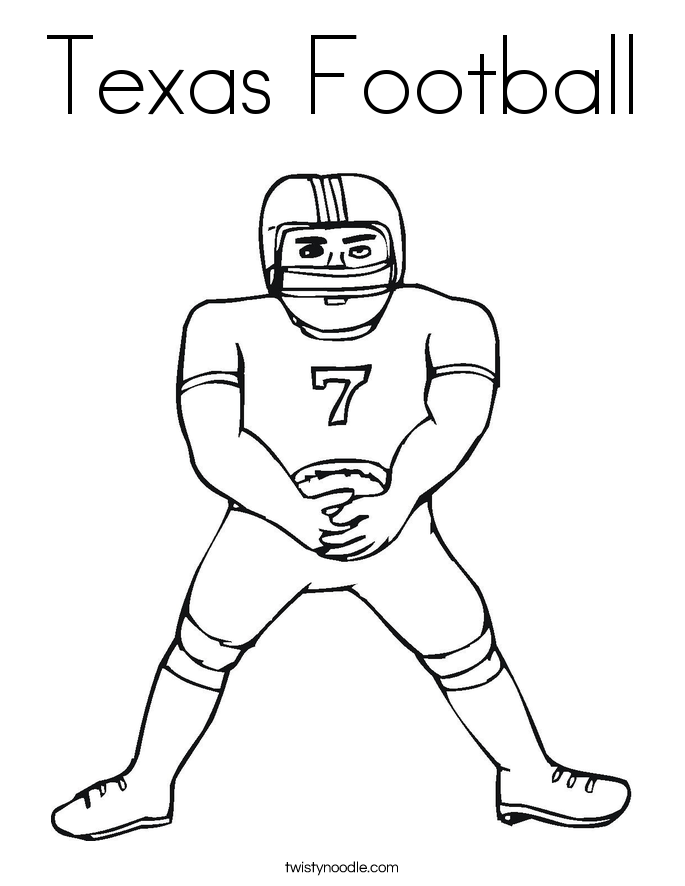 Texas Football Coloring Page
