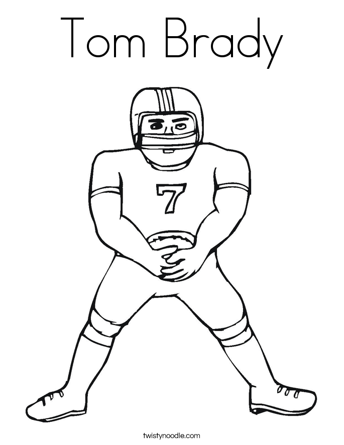 coloring pages of tom brady | Tom Brady Coloring Page - Twisty Noodle