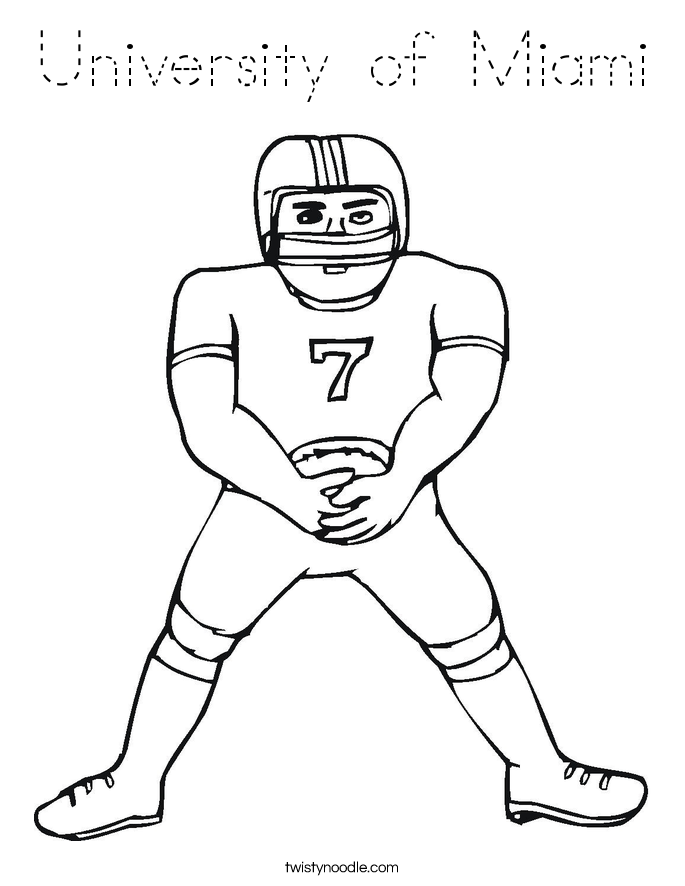 University of Miami Coloring Page