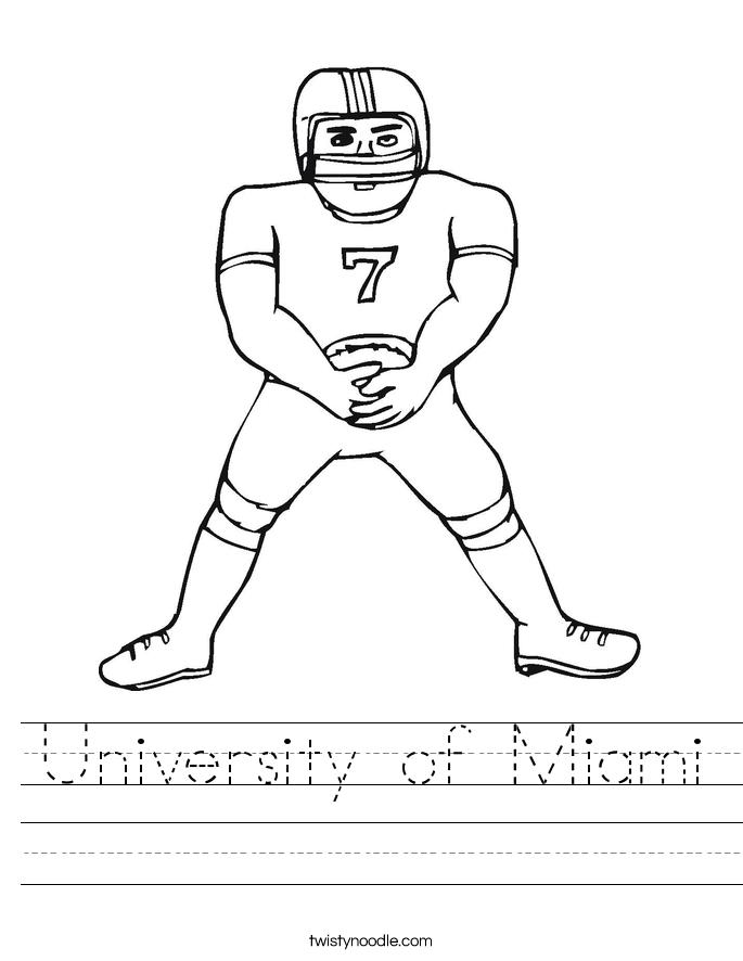 University of Miami Worksheet