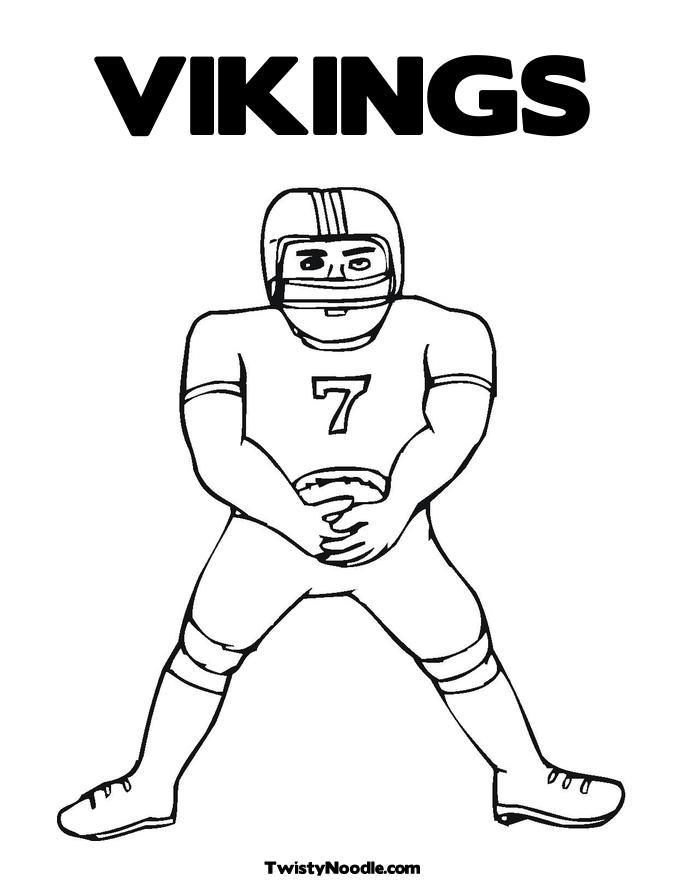 vikings football coloring pages - photo #8