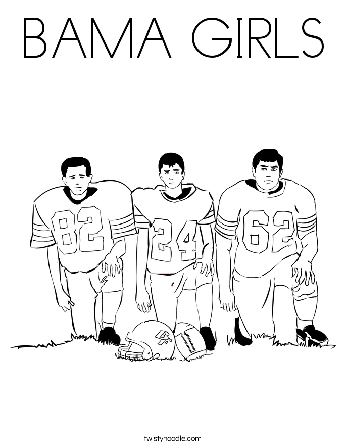 BAMA GIRLS Coloring Page