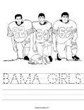 BAMA GIRLS Worksheet