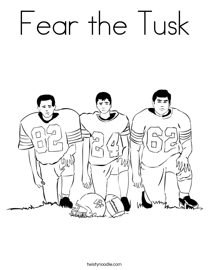 Fear the Tusk Coloring Page