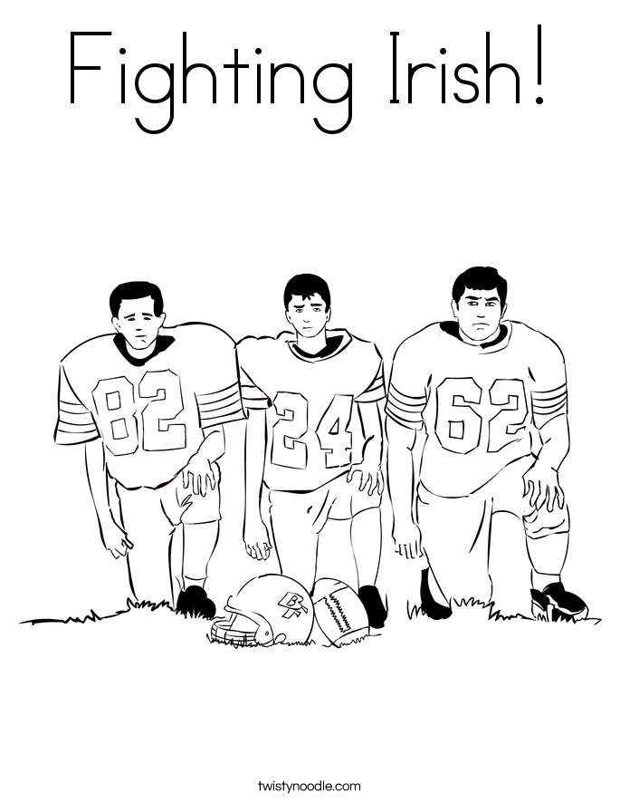 the fighting irish coloring pages - photo#5