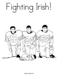 Fighting Irish! Coloring Page