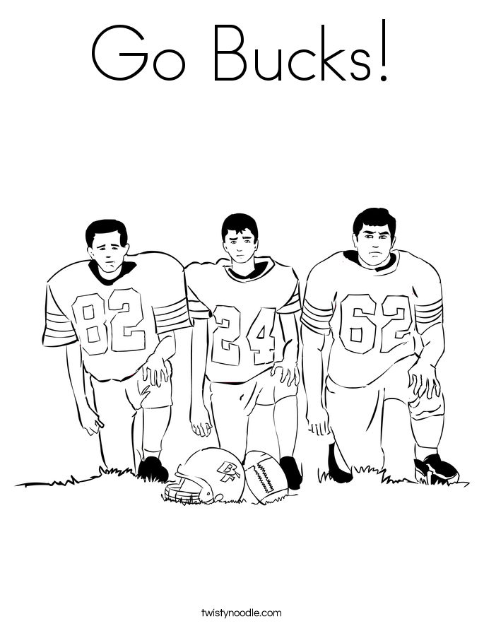 Go Bucks! Coloring Page
