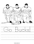 Go Bucks! Worksheet