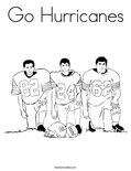 Go Hurricanes Coloring Page