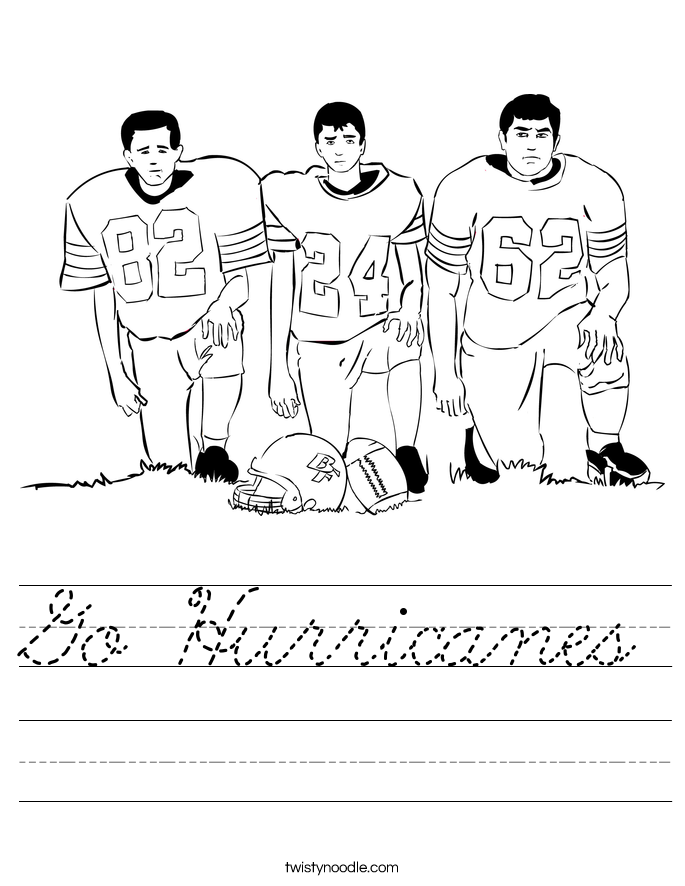 Go Hurricanes Worksheet