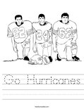Go Hurricanes Worksheet
