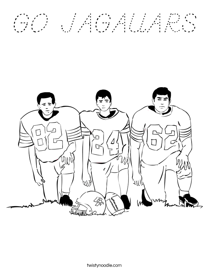 GO JAGAUARS Coloring Page