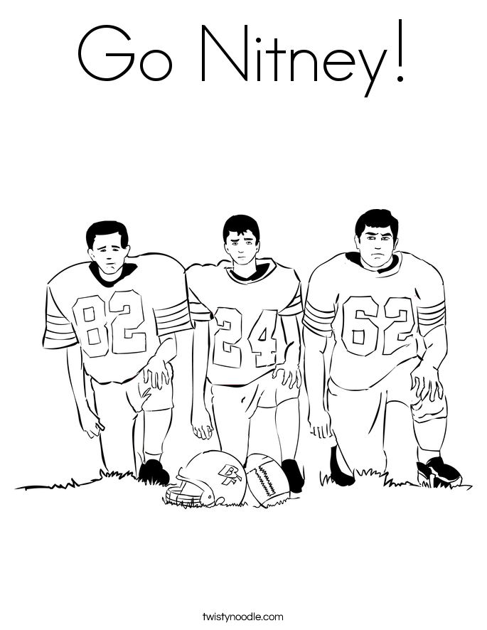 Go Nitney! Coloring Page
