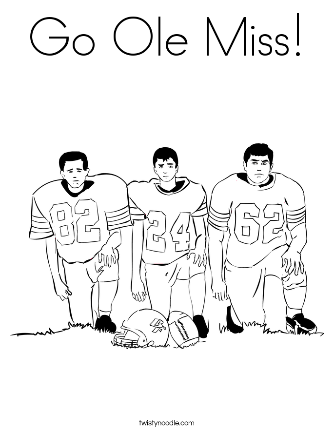 Go Ole Miss! Coloring Page
