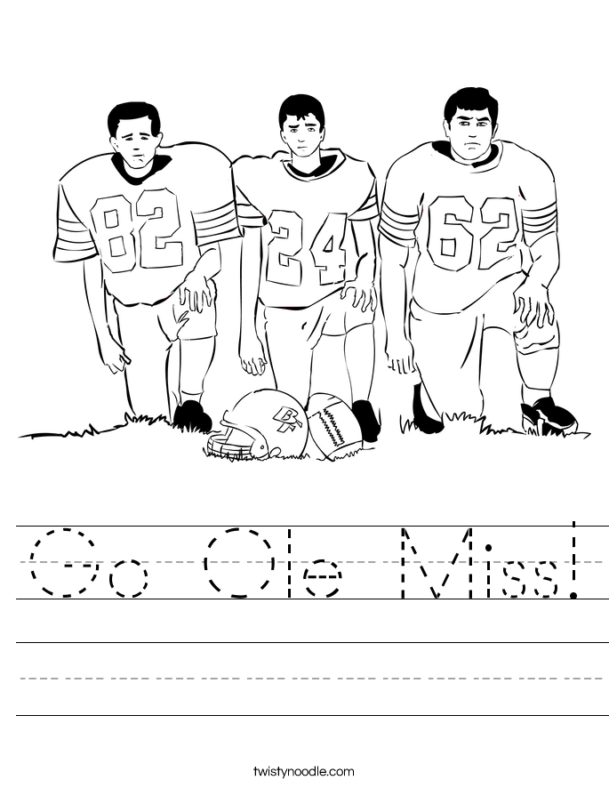 Go Ole Miss! Worksheet
