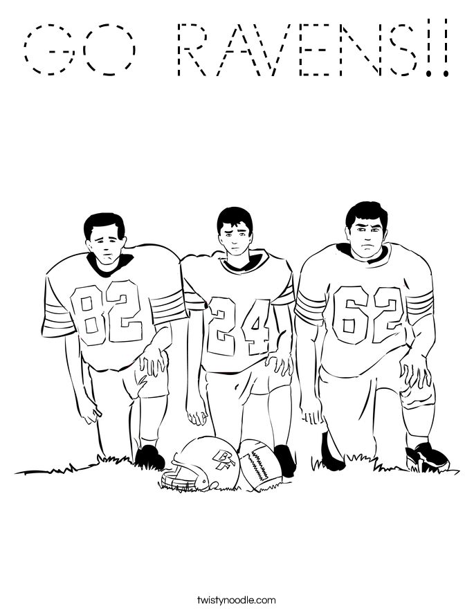 GO RAVENS!! Coloring Page