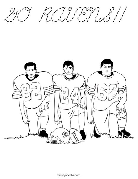 Football Players Coloring Page