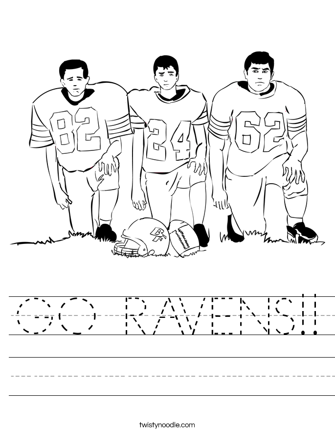 GO RAVENS!! Worksheet