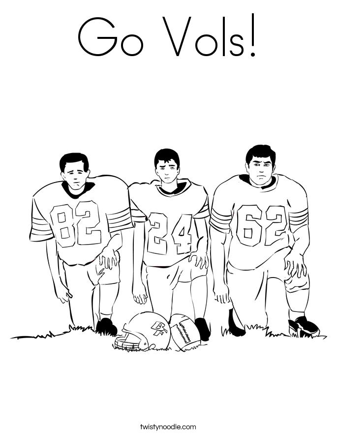 Go Vols! Coloring Page