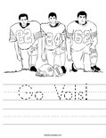 Go Vols! Worksheet