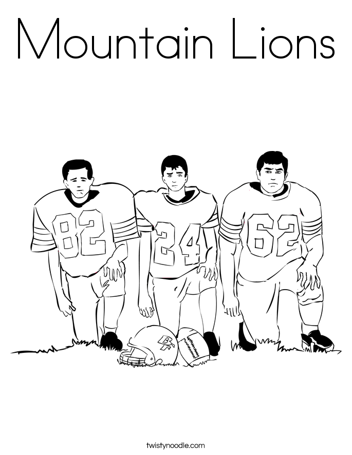 Mountain Lions Coloring Page