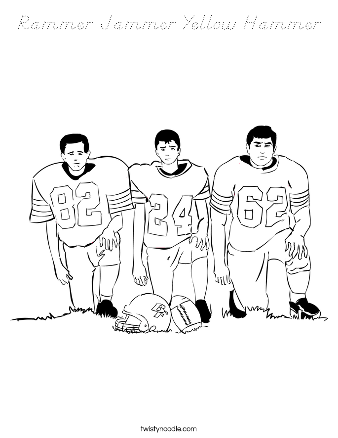 Rammer Jammer Yellow Hammer Coloring Page