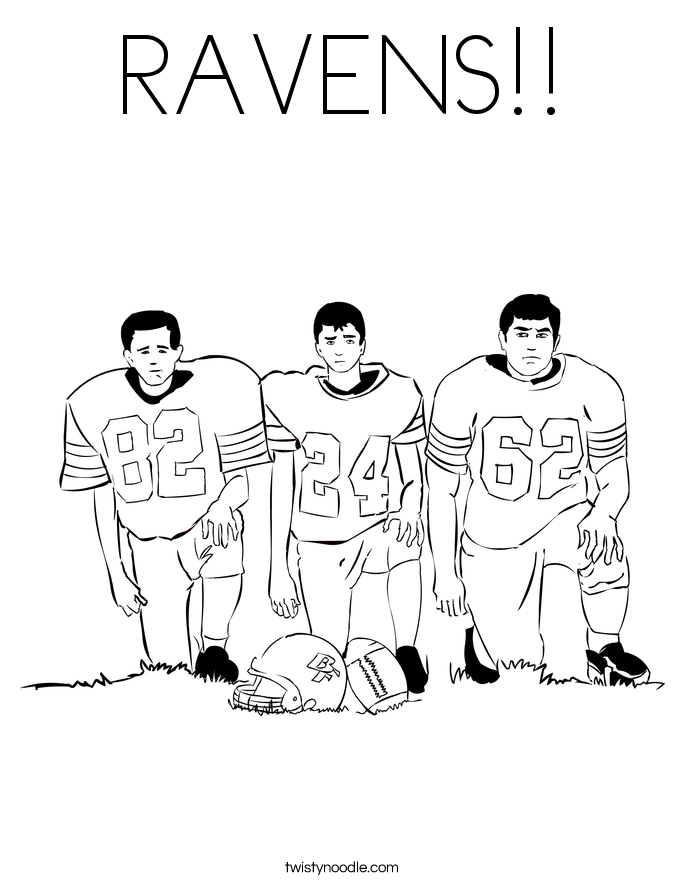 RAVENS!! Coloring Page