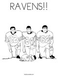 RAVENS!!Coloring Page