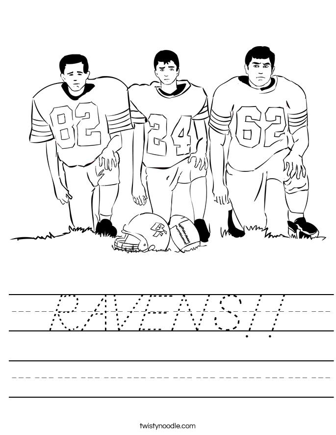 RAVENS!! Worksheet