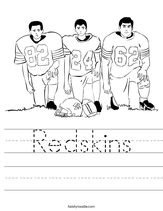 Redskins Worksheet