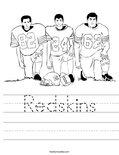 Redskins Worksheet