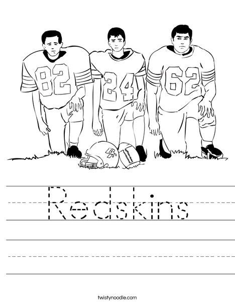 Football Players Worksheet