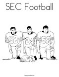SEC Football Coloring Page