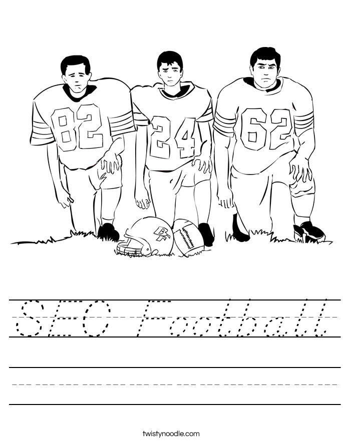 SEC Football Worksheet