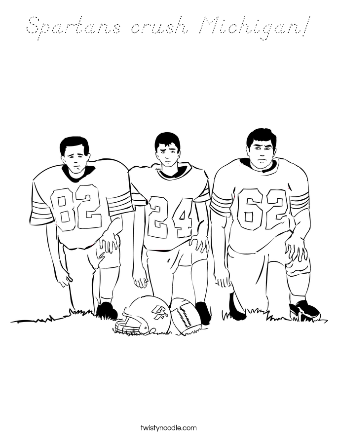 Spartans crush Michigan! Coloring Page