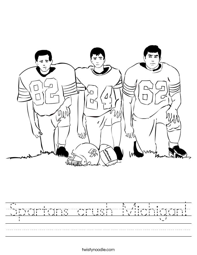 Spartans crush Michigan! Worksheet