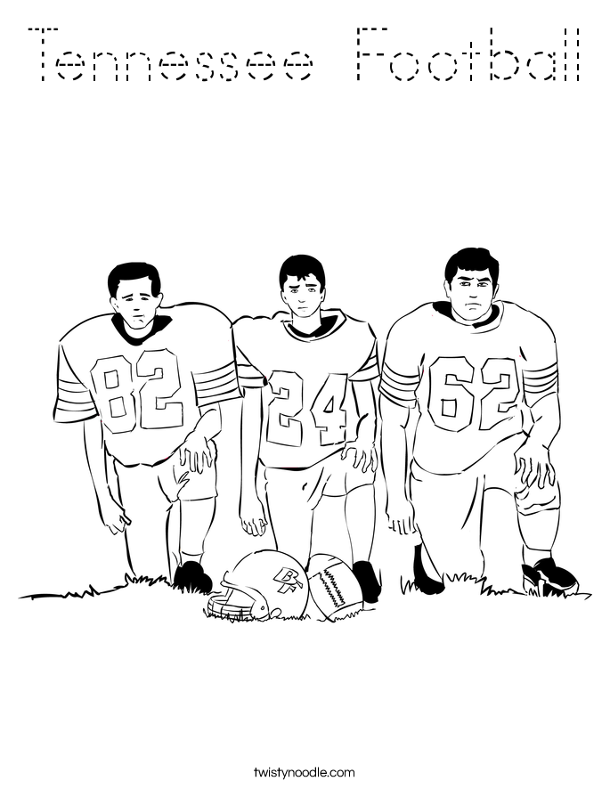 Tennessee Football Coloring Page