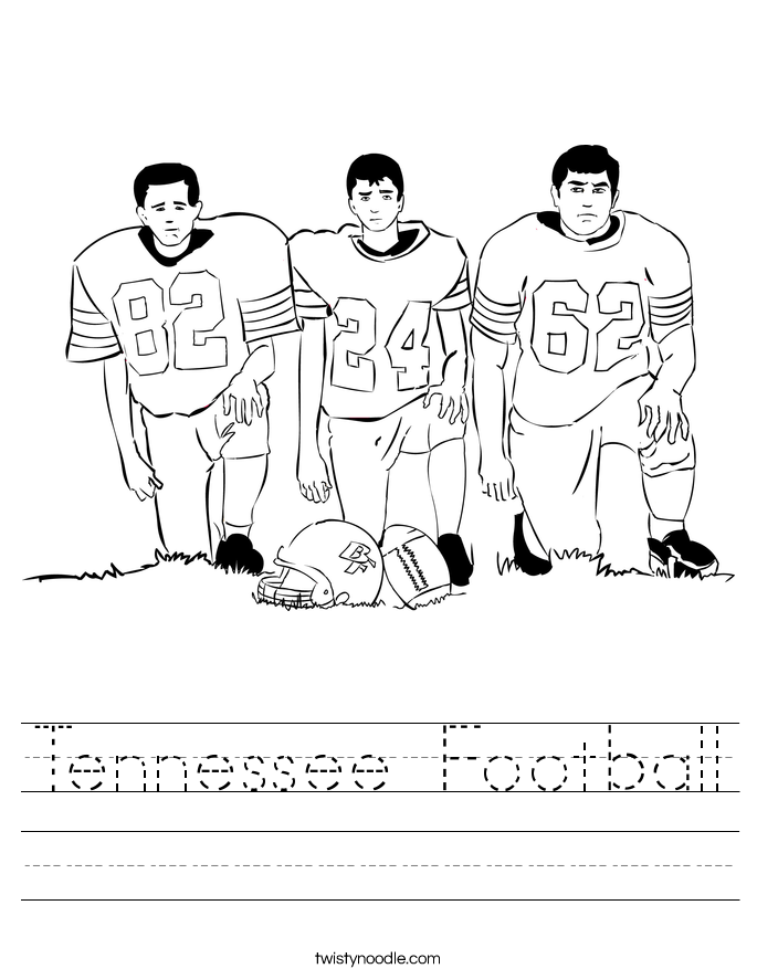 Tennessee Football Worksheet