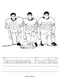 Tennessee Football Worksheet