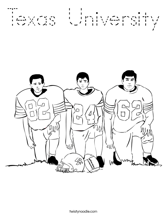 Texas University Coloring Page