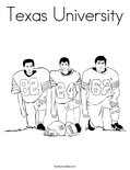Texas UniversityColoring Page