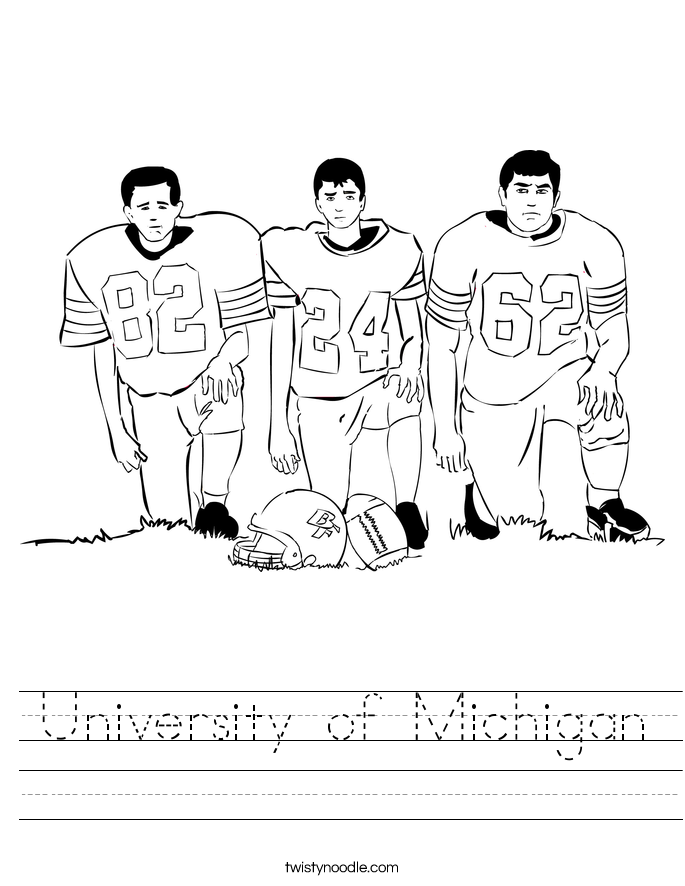 University of Michigan Worksheet