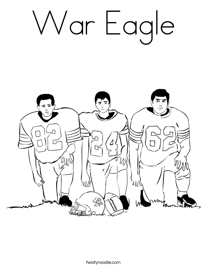 War Eagle Coloring Page