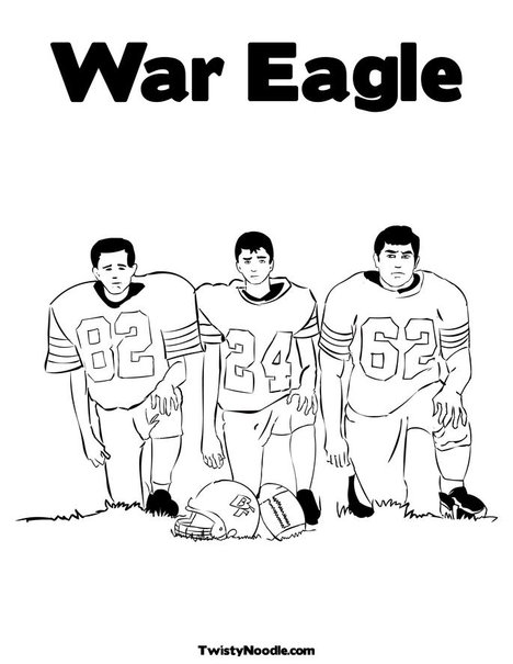 auburn football coloring pages | Auburn Logo Coloring Pages Coloring Pages