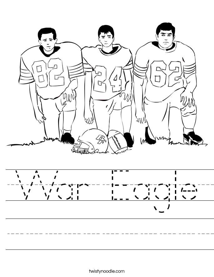 War Eagle Worksheet