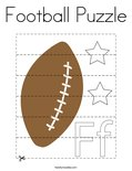 Football Puzzle Coloring Page